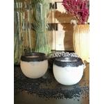 les artisans ciriers bruxellois Bougie Photophore Globe Graine Végétale Black Power
