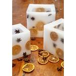 Les Artisans Ciriers Bruxellois Bougie Photophore Orange étoilée