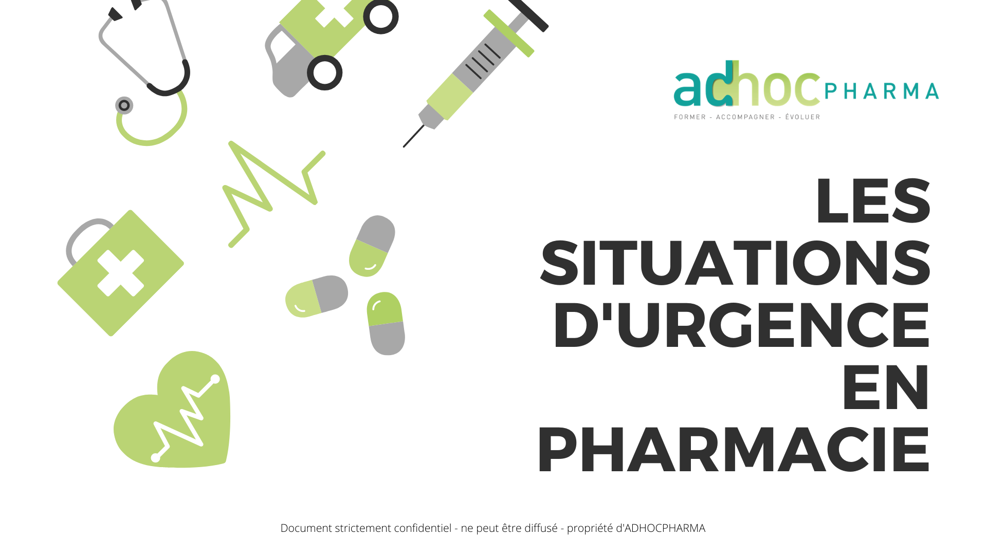 Les situations d'urgence en pharmacie