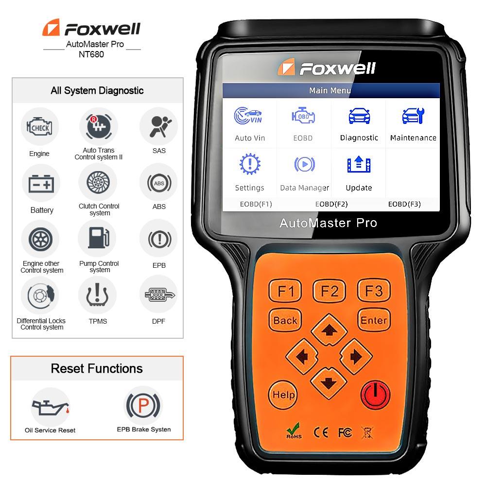 Foxwell NT680 pro Scanner de Diagnostic