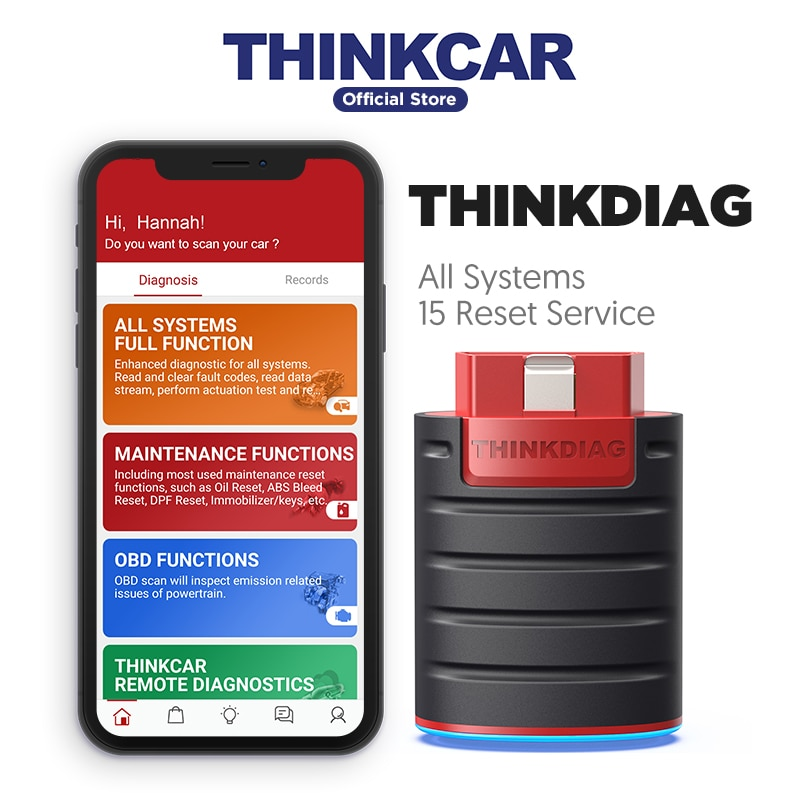 THINKCAR Thinkdiag obdII outil de diagnostic automobile