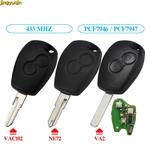 Cl-de-voiture-distance-jingyuqin-433MHz-PCF7947-PCF7946-puce-pour-Renault-Duster-Modus-Clio-3-Twingo