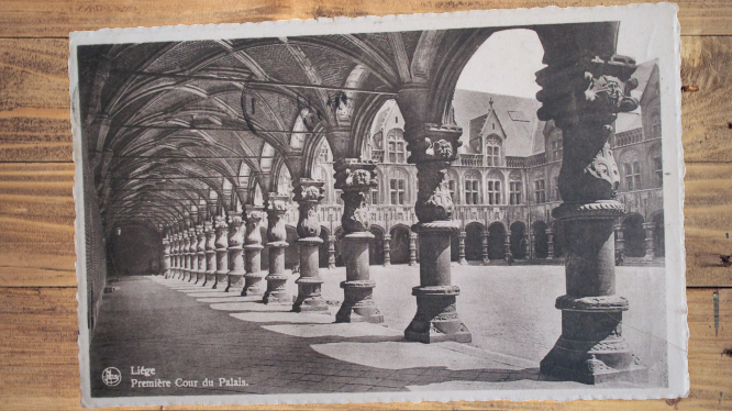 Carte postale ancienne : Liège, Palais
