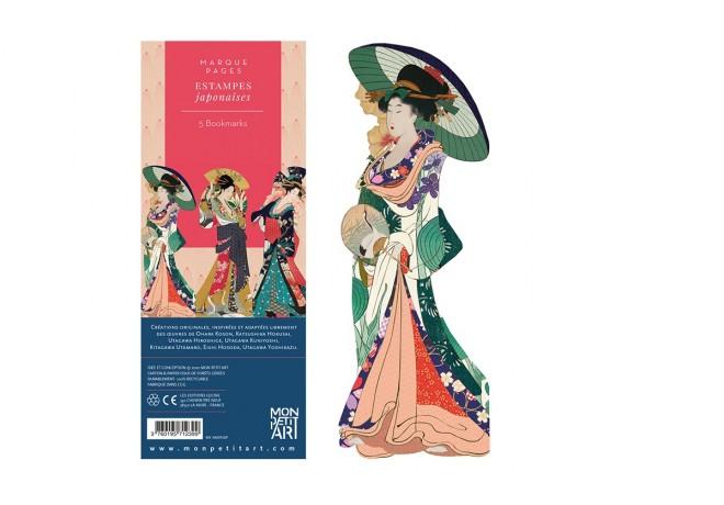 marque-pages-lecture-style-estampes-japonaises-accordeon-personnages