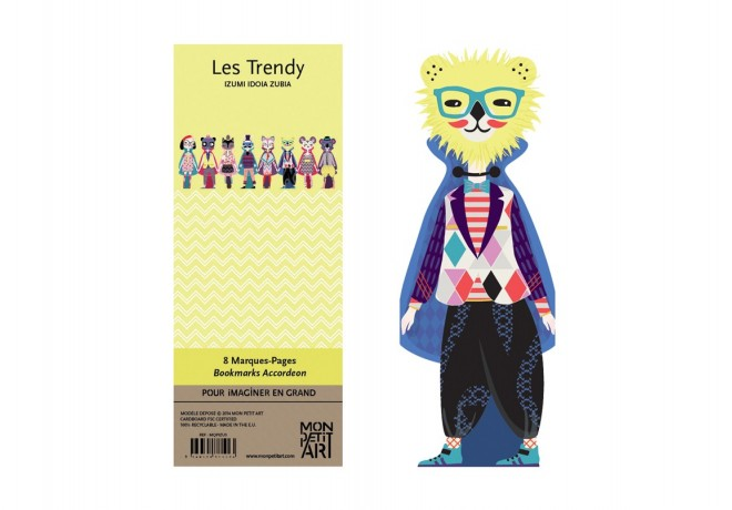 marque-pages-lectures-style-trendy-mode-look-fashion-accordeon-personnages