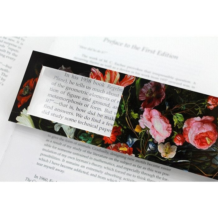 Marque-page grossissant, fleurs, De Heem