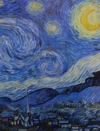Cahier d'artiste, Van Gogh, Nuit étoilée