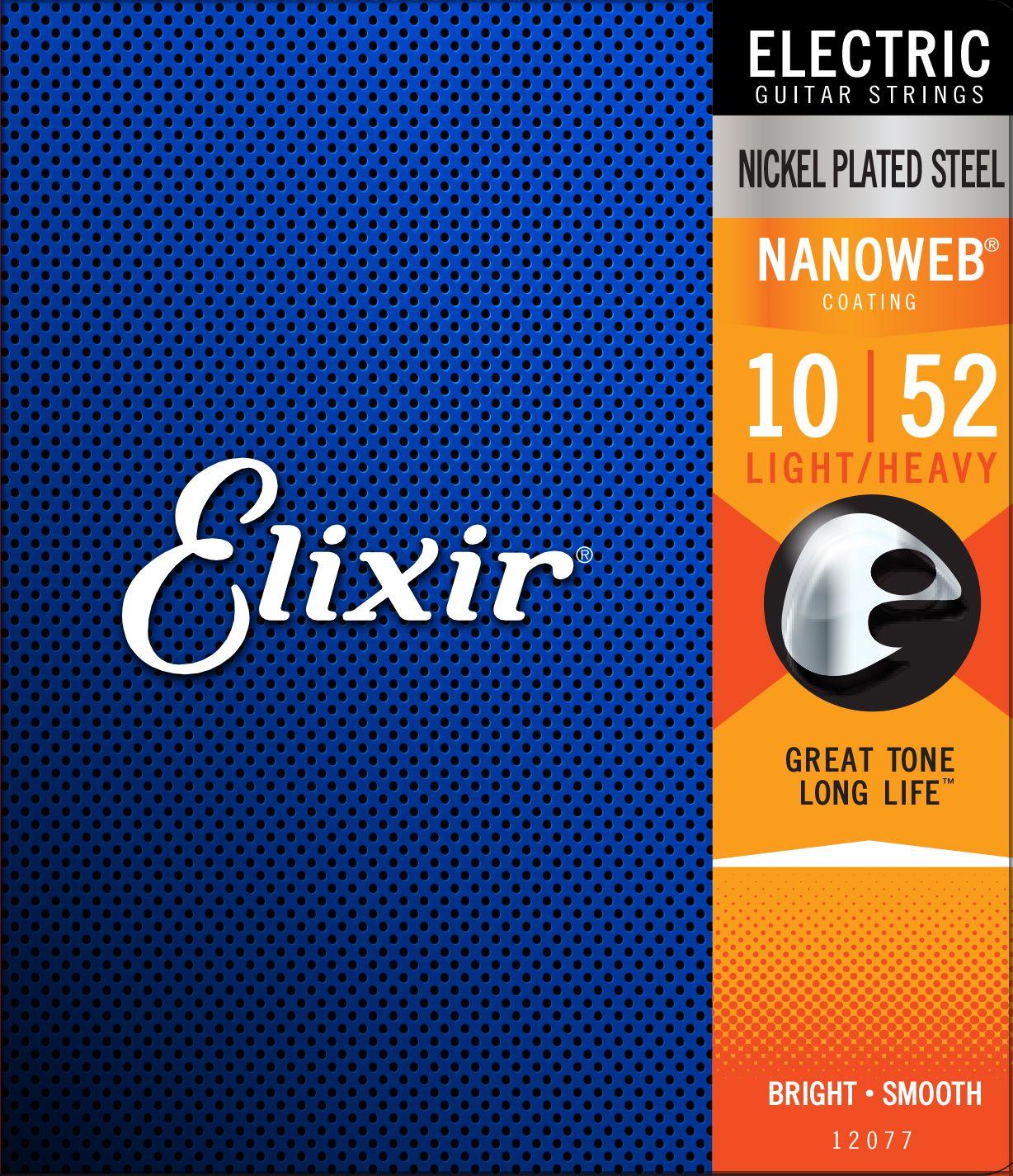 Elixir Nanoweb Light Heavy 10-52