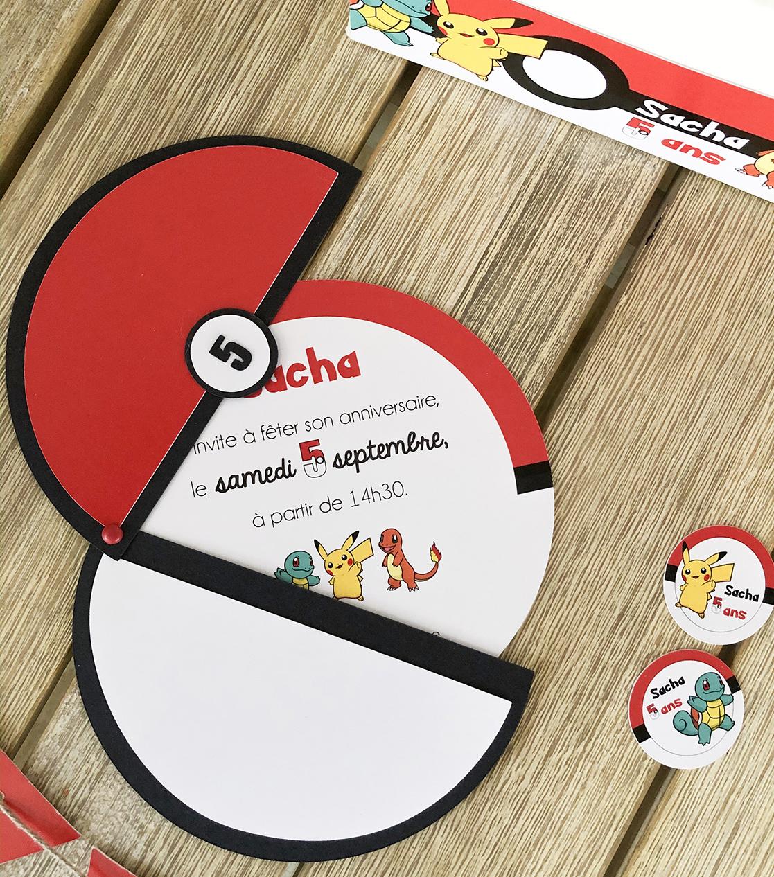 Invitation Pokemon