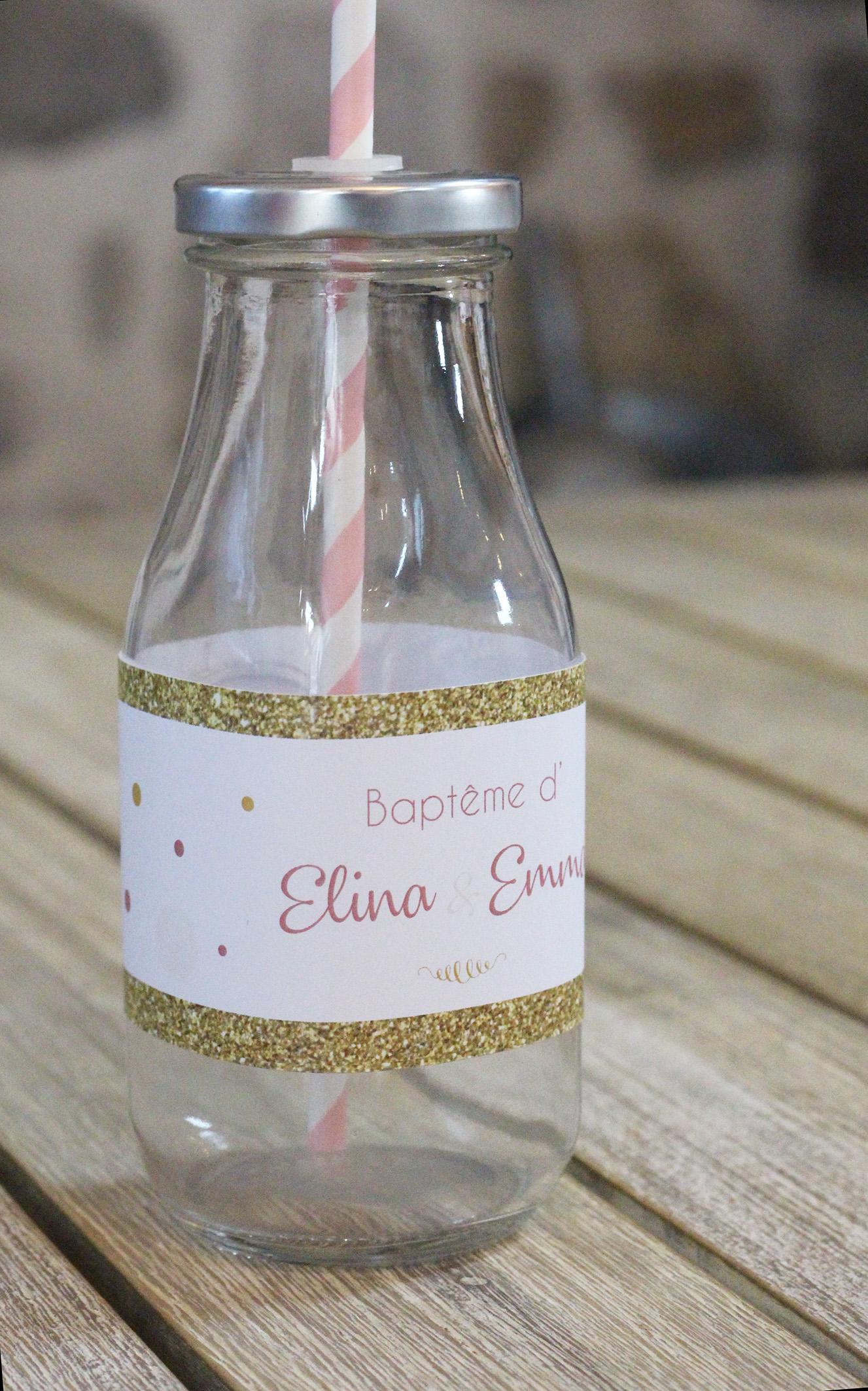 Etiquettes bouteilles confetti x 5