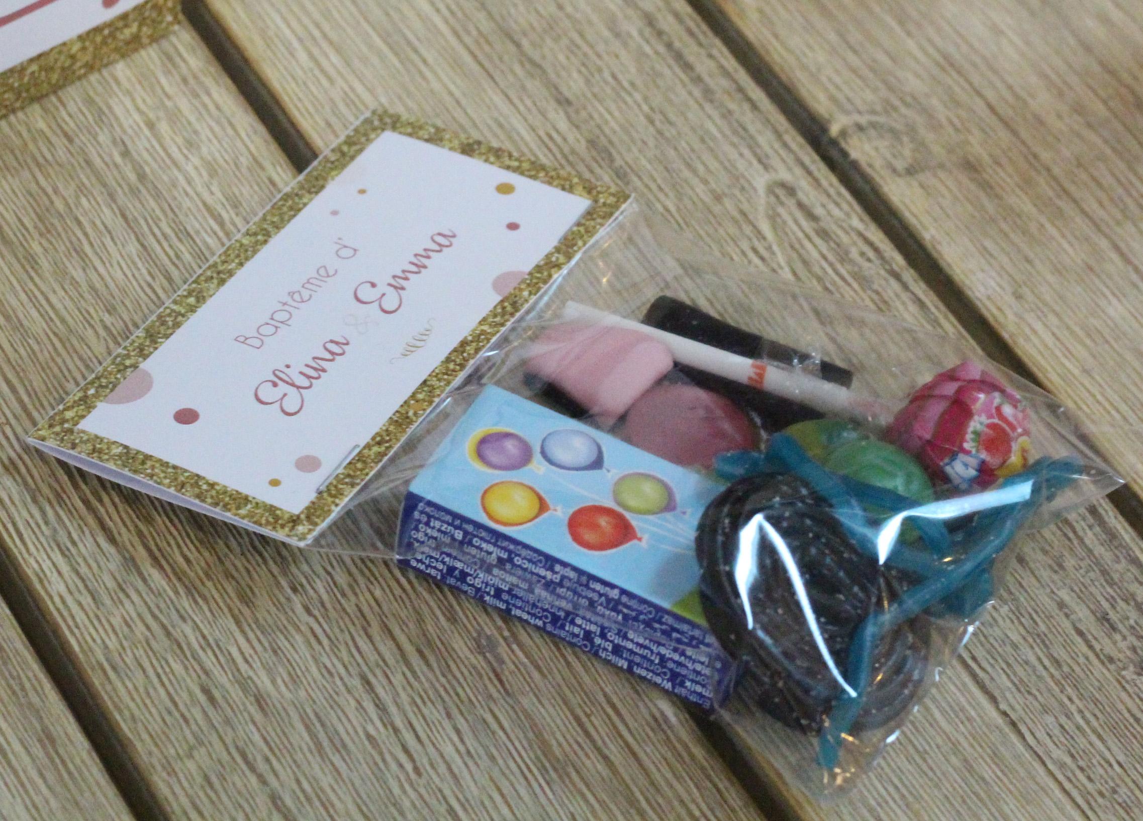 Sachets de bonbons confetti x 5