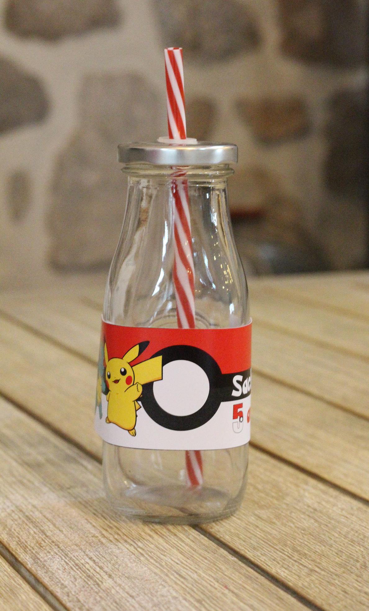 Etiquette bouteille Pokemon x 5