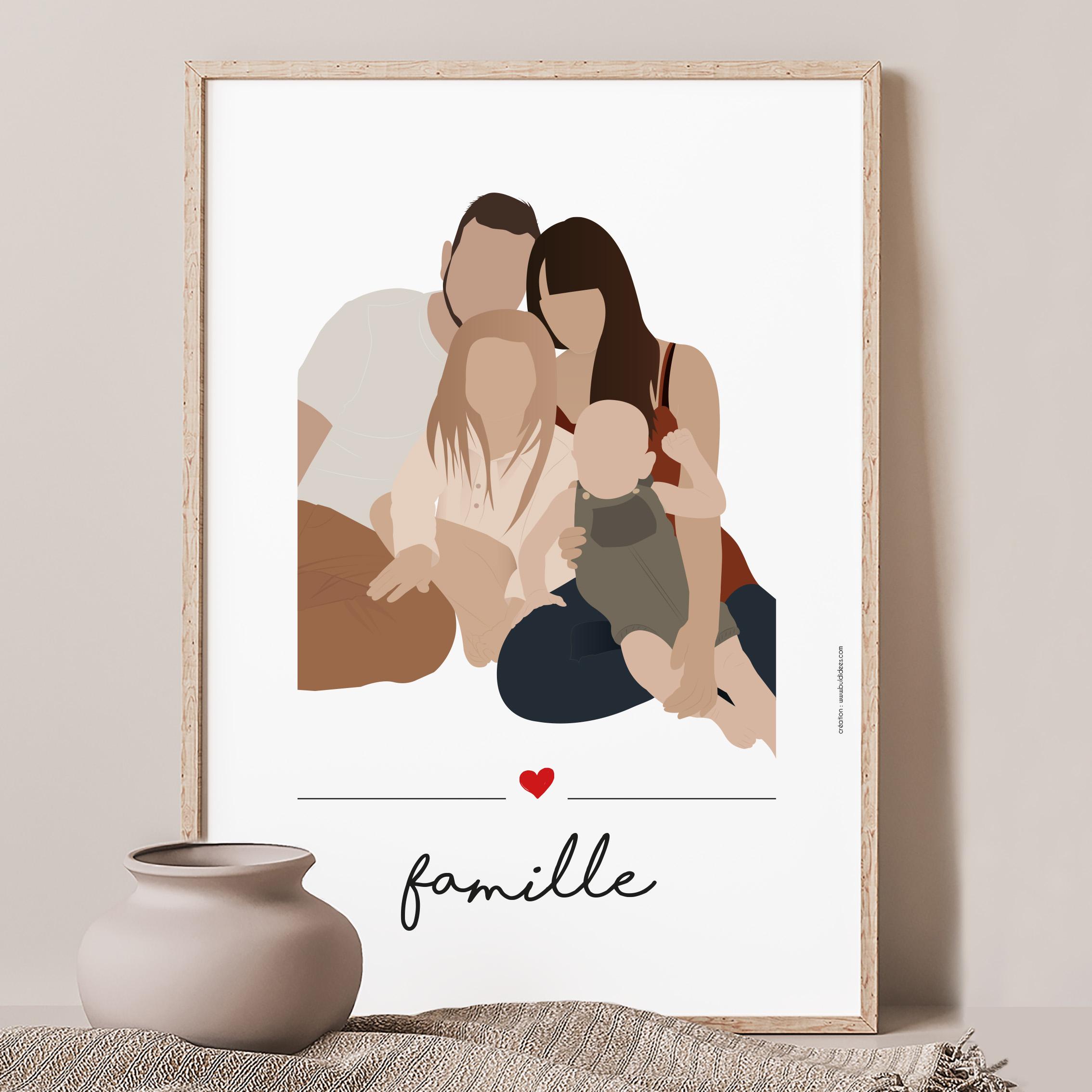 Affiche portrait de famille