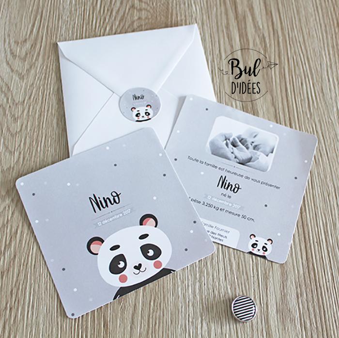 Faire-part panda