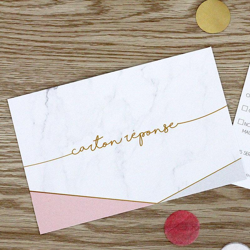 Carton réponse marbre