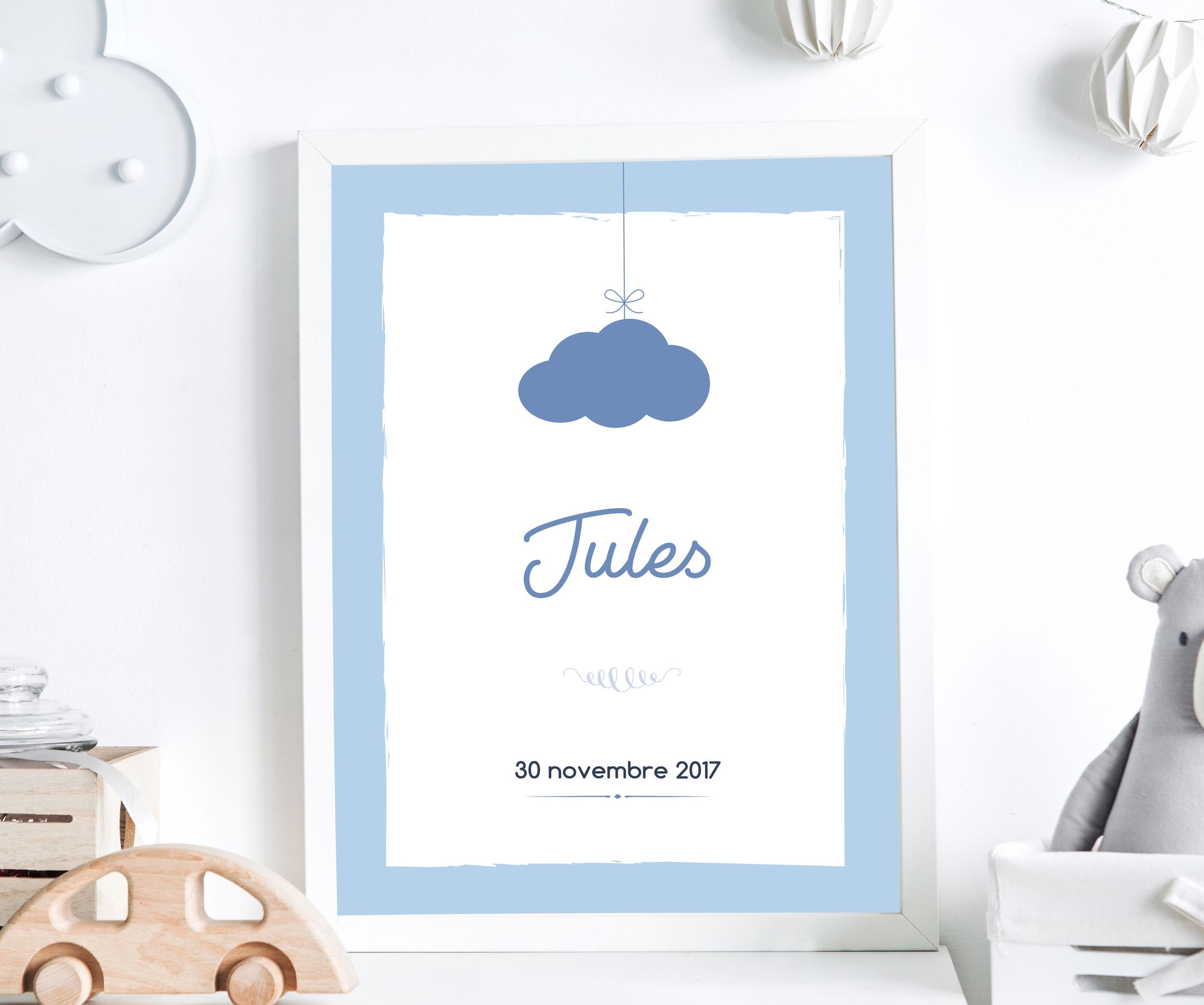 Affiche nuage suspendu