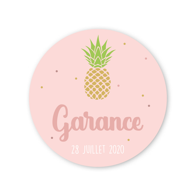 Autocollant ananas
