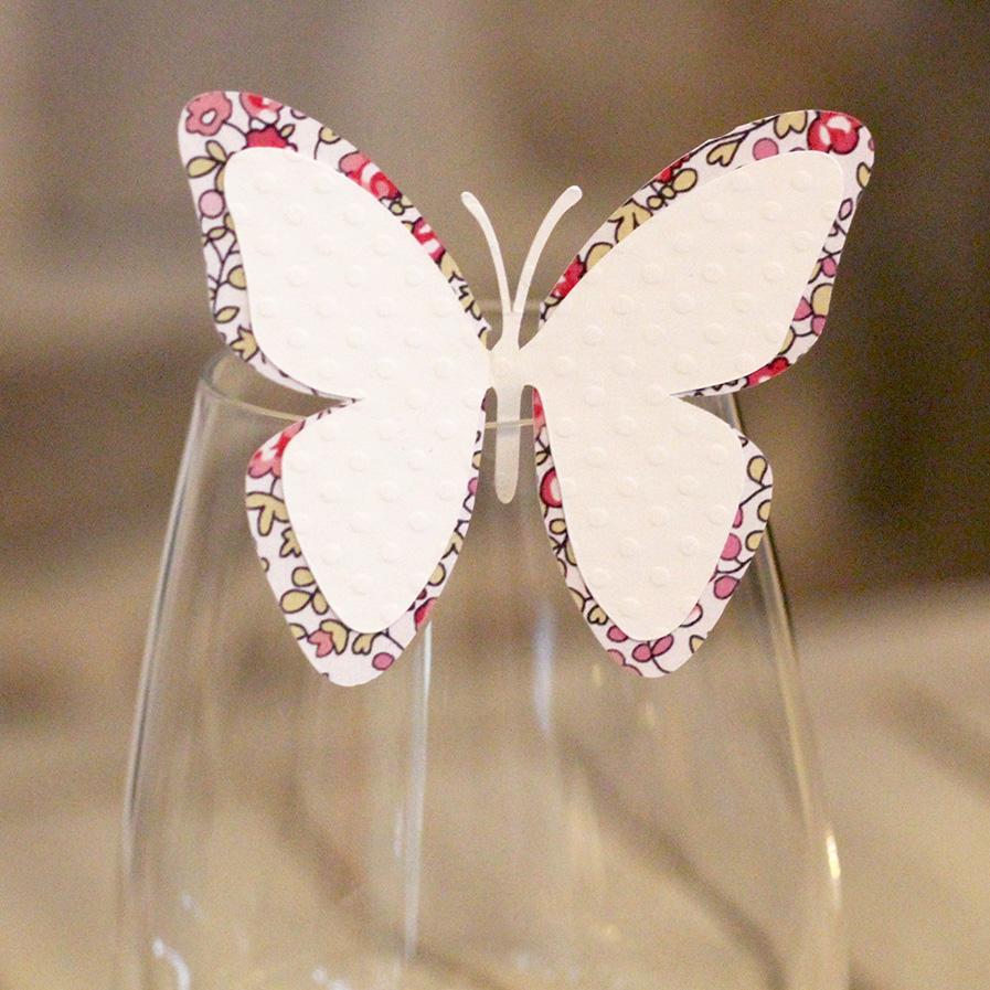 Marque-place papillon liberty