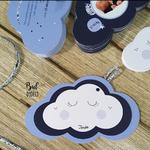 faire-part nuage liberty bleu