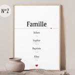 affiche 2 famille numéro