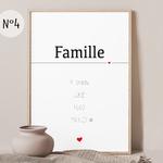 affiche 4 famille numero