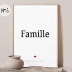 affiche 6 famille numéro