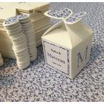 boites bleues etiquettes