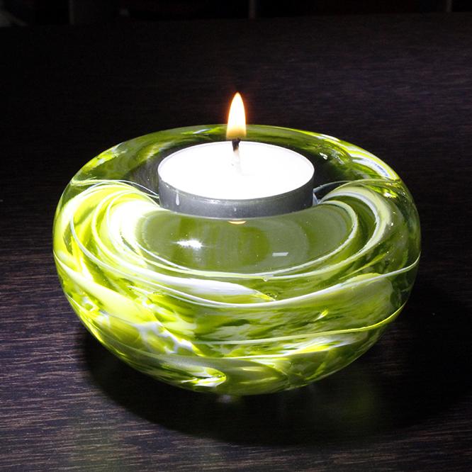 bougeoir cristal verre pomme blanc art verrier bougeoir cristal lehrer. Black Bedroom Furniture Sets. Home Design Ideas