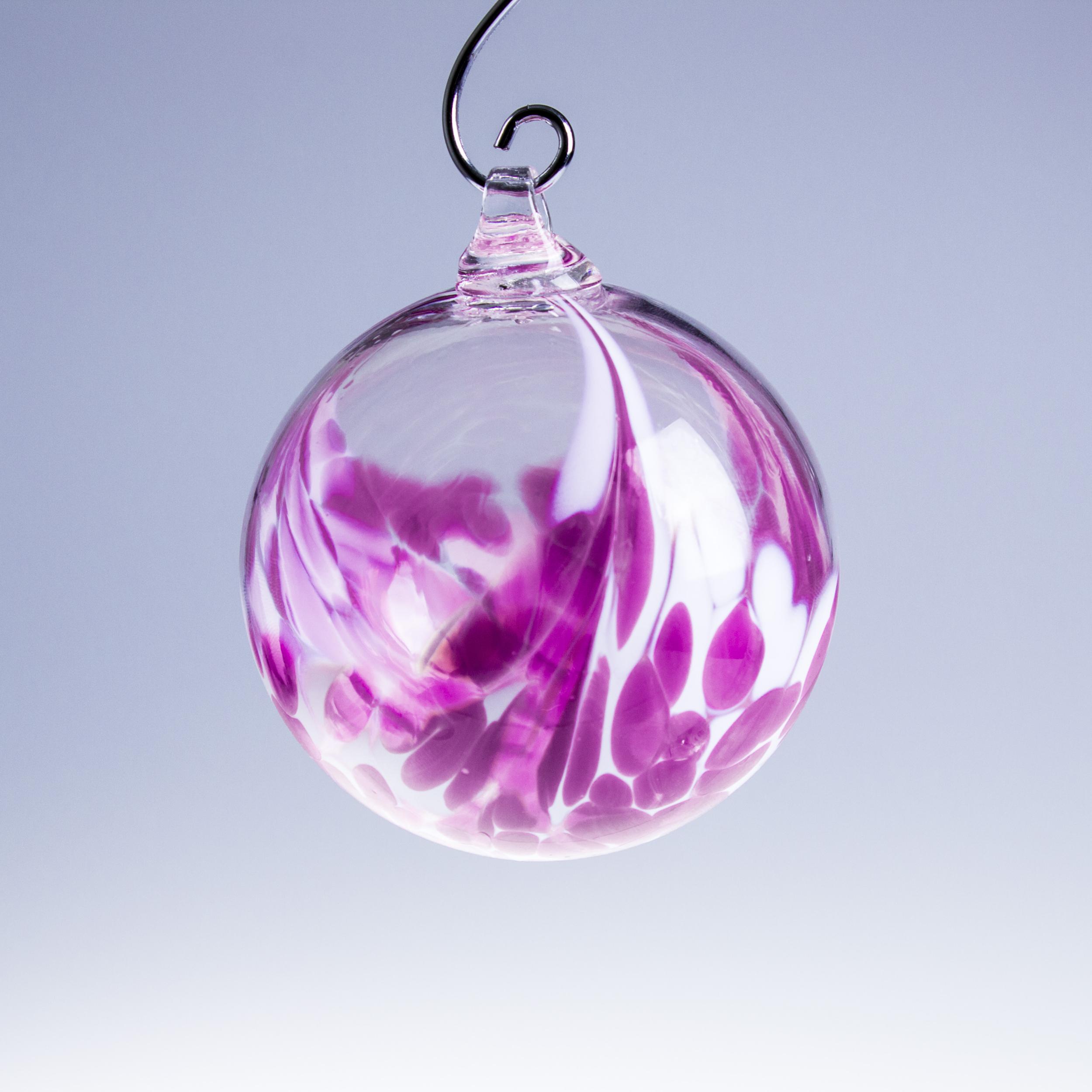 Boule de no l rose d corations boules de no l cristal lehrer for Boule laser noel