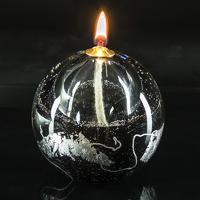 Lampe à huilte noir/argent