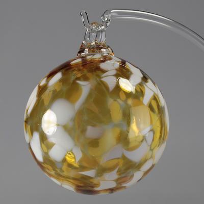 Boule de Noël Ambre 8cm