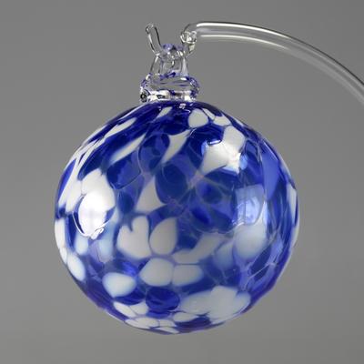 Boule de Noël Bleue 8cm