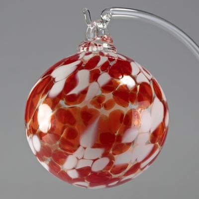 Boule de Noël rouge 8cm