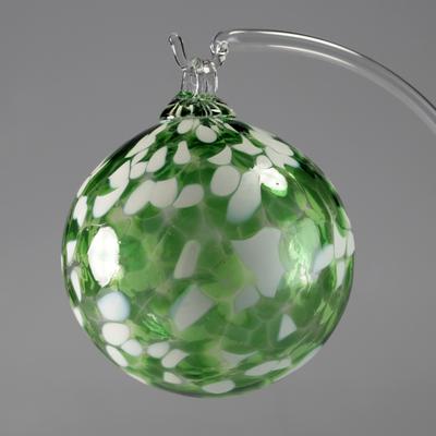 Boule de Noël verte 8cm