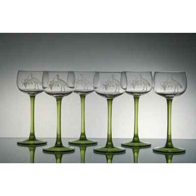 6 verres Alsace Taille Cigogne
