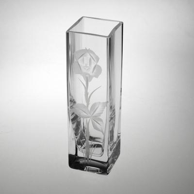 Vase carré 4118/210 21cm taille rose