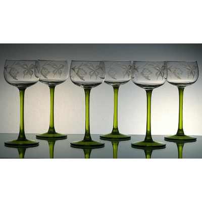 6 verres Alsace Taille sarment
