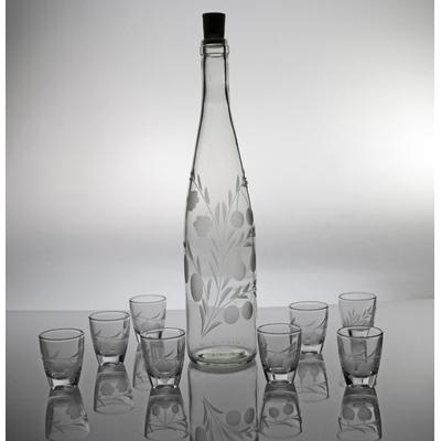 Coffret 9 pièces gin avec bouteille 75cl taille fruits