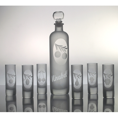 Coffret 7 pièces (6verres Islande + 1 bouteille Krug) taille fruits