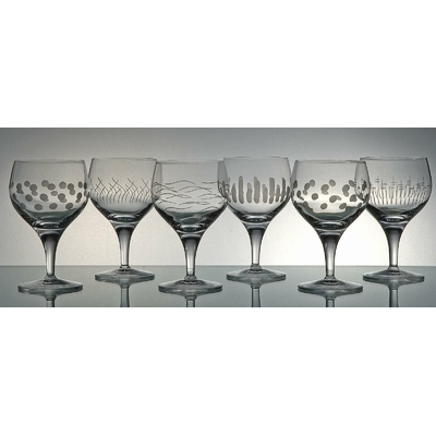 6 verres Giotto Taille Moderne