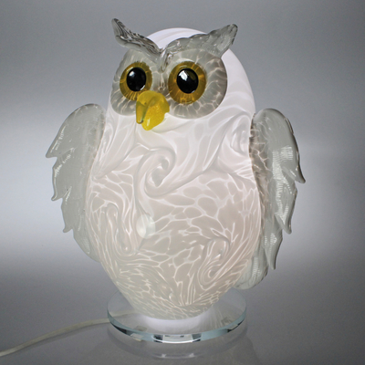 Lampe Hiboux Blanc 2021 #001