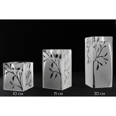 Vase bougeoir carré