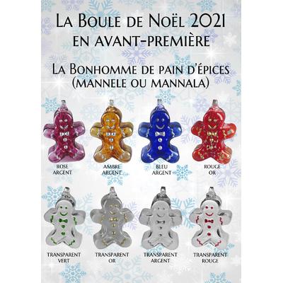 2021 - Boule de Noël Le Bonhomme de pain d'épices ou Mannele