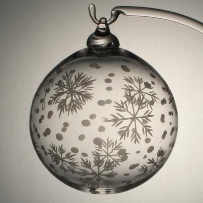 Boule de Noël Taille Flocon + Bulles
