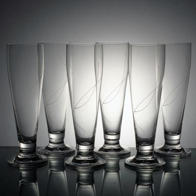 6 verres à bière Prélude taille spirale