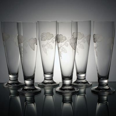6 verres à bière Prélude taille houblon
