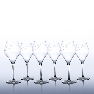 6 verres Oenologie Dégustation Bordeaux Taille Spirale