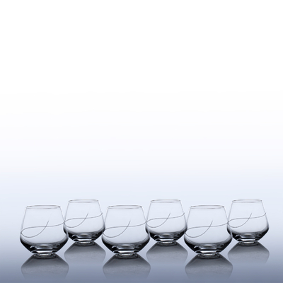 6 verres Oenologie Whisky/Eau Taille Spirale