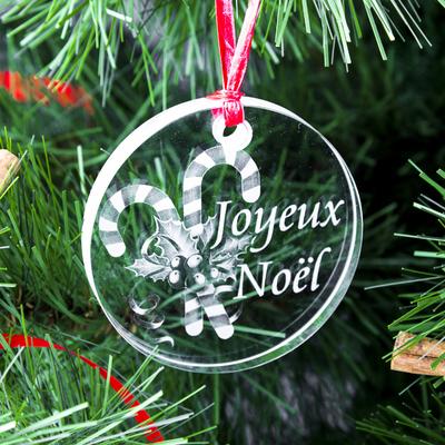 Médaillon de Noël ; Gravure Sucre d'Orge