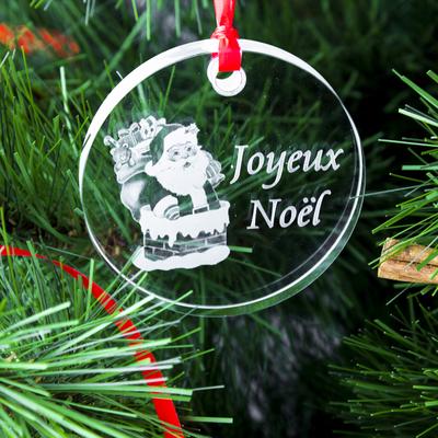 Médaillon de Noël ; Gravure Père Noël